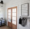 北欧风格浪漫白色客厅推拉门装修案例