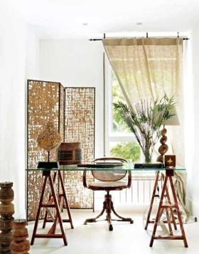 复古质朴淡雅混搭风格书房装潢欣赏