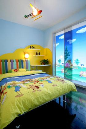蓝色活力简约风儿童房装饰案例