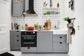 白色宜家淡雅风格厨房装修图