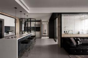 灰色质感现代吧台装潢案例