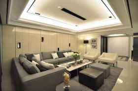 灰色时尚现代风格客厅美图欣赏
