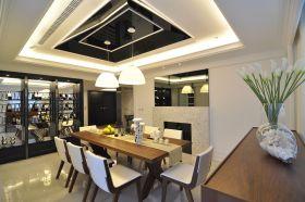 米色简约风格餐厅吊顶装修设计欣赏