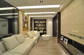 米色休闲简约客厅设计图