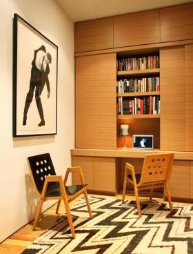原木色混搭风格书房图片欣赏