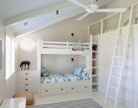 白色美式田园浪漫风格儿童房装潢效果图设计