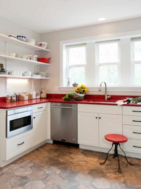 浪漫简约清爽风格厨房创意装修布置