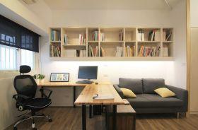 米白色现代书房装潢设计