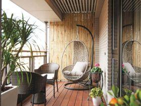 优雅休闲现代风格阳台设计赏析