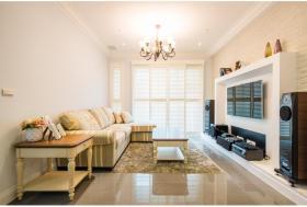 欧式温馨黄色客厅装修案例