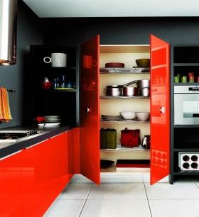 个性大胆混搭风格厨房橱柜装修设计
