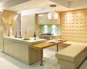 精致大气时尚米色现代风格厨房橱柜效果图设计