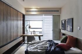 现代风格时尚灰色卧室设计图片