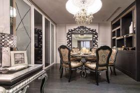 2016黑色新古典风格餐厅装修美图赏析