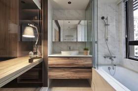 自然原木色现代风格卫生间装饰案例
