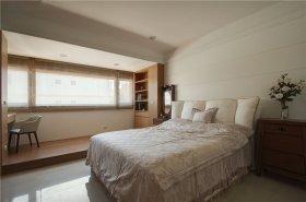典雅新中式风格米色卧室效果图设计