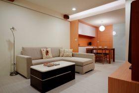 橙色现代风格客厅装修图片赏析