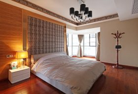 现代清爽橙色卧室图片欣赏