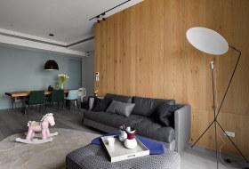 舒适自然橙色现代风格客厅装潢美图赏析