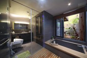 大气凝练现代风格灰色卫生间装修案例