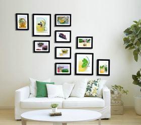 自然清新文艺简约风格客厅照片墙图片赏析