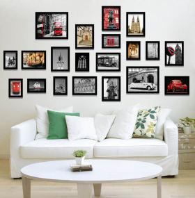 混搭时尚照片墙效果图欣赏