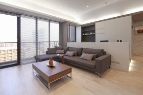 灰色休闲简约客厅设计图片