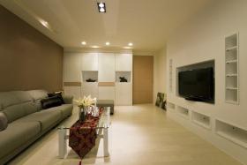 现代风格时尚米色客厅图片欣赏