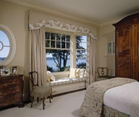 浪漫唯美欧式风格飘窗设计装潢