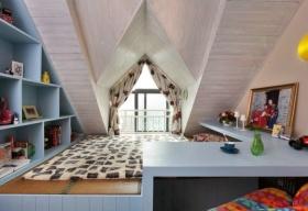 浪漫舒适混搭风格阁楼设计图片