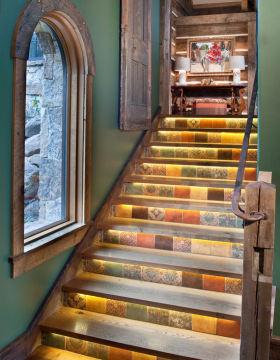 创意个性复古混搭楼梯装潢