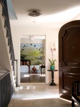 褐色美式风格入门玄关设计赏析