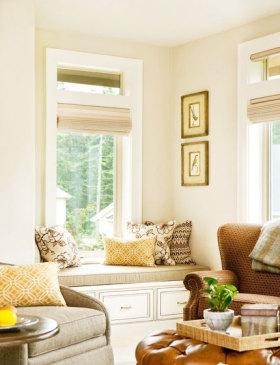 清新优雅美式风格飘窗美图欣赏