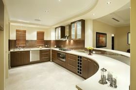 黄色简约风格厨房橱柜图片赏析