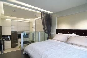 米色现代风格卧室隔断装潢案例