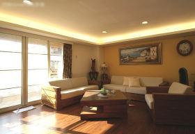 简约风格温馨黄色客厅装修图片