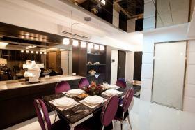 现代风格白色餐厅设计美图