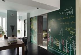 创意混搭时尚现代风格背景墙装修效果图