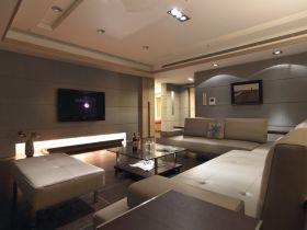 现代风格灰色时尚客厅背景墙设计欣赏