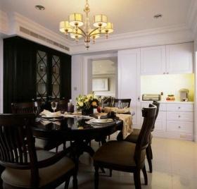 大气华丽新古典风格黑色餐厅设计案例