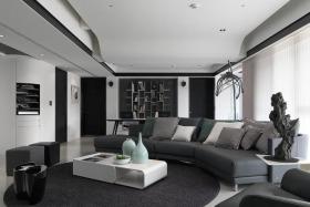简约时尚灰色客厅装修