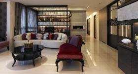 沉稳雅致新古典风格黑色客厅欣赏