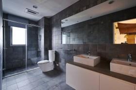 现代灰色卫生间装修