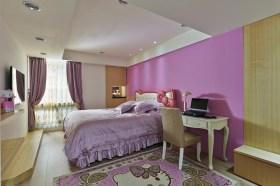 粉色混搭风格儿童房设计装潢
