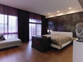 现代风格卧室大理石背景墙设计赏析