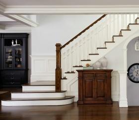 美式雅致简约风格楼梯装修效果图片