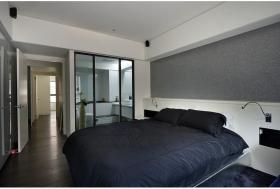 现代风格宁静黑色卧室设计