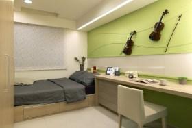 文艺雅致现代风格绿色儿童房设计