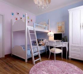 欧式风格粉色儿童房设计图片