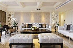 白色简欧风格客厅效果图赏析